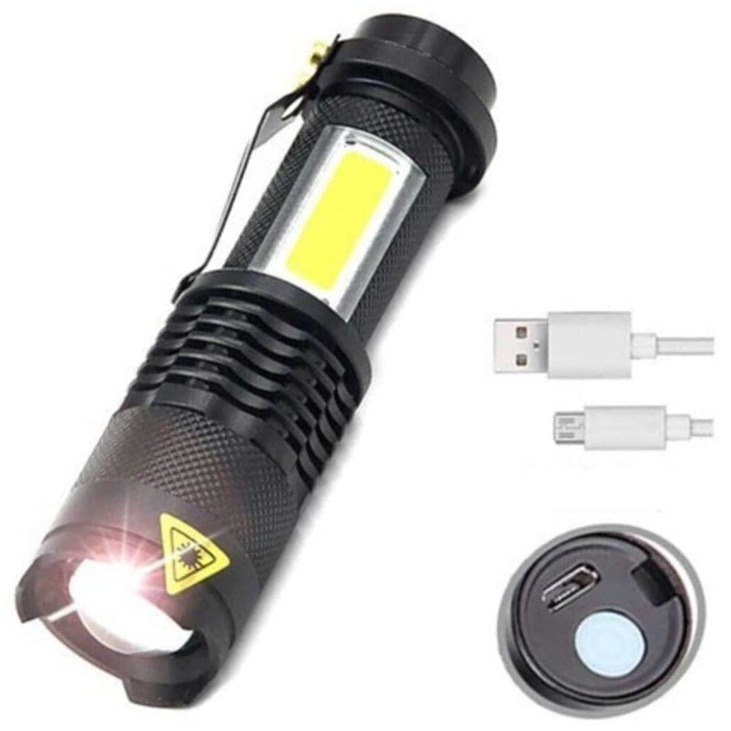 IMG-5504466147644407921 - Taktikal Led Usb Şarjlı Ultra Güçlü Mini El Feneri (Kutulu) - n11pro.com