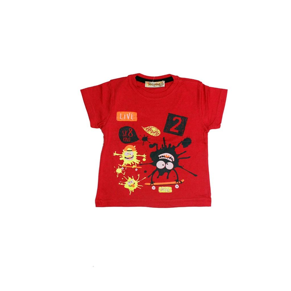 69849387 - Hoppa Kids Baskı Detaylı Bebek Tişört - n11pro.com