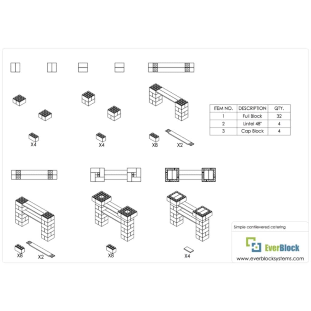 09490117 - Everblock Systems Dirsekli Catering İstasyonu - n11pro.com