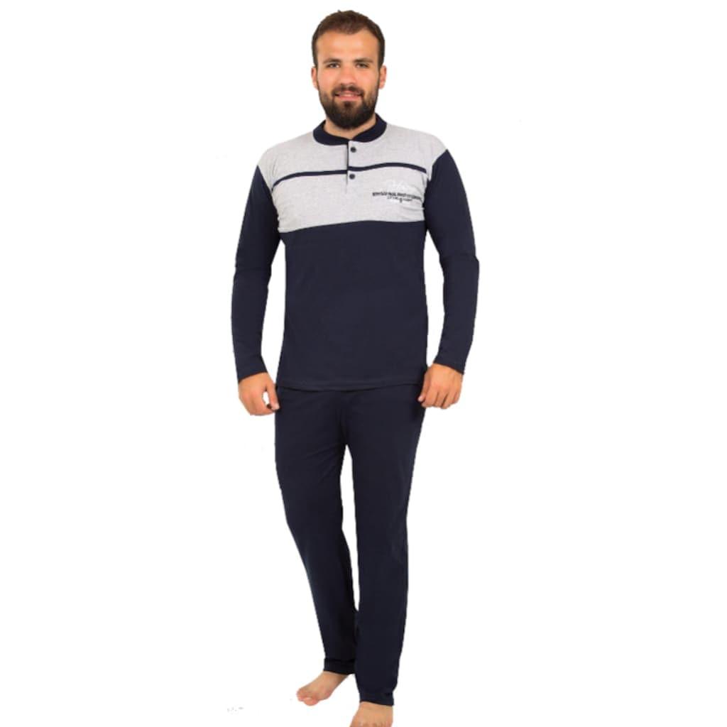 58950012 - Alfatex Ekonomik %100 Pamuk Kışlık Erkek Pijama Alt Üst Takım Eşofman - n11pro.com