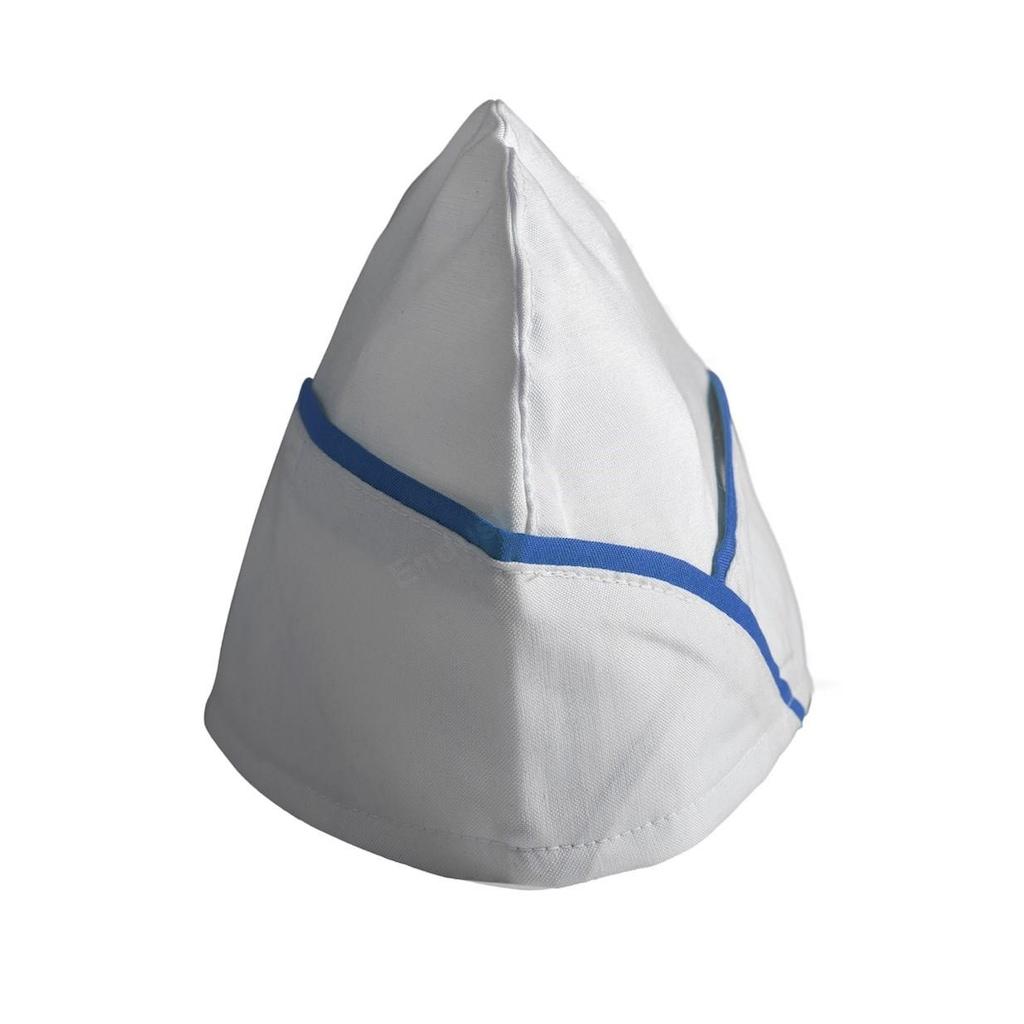 10132520 - Endüstri Giyim Aşçı Kepi Beyaz Saks Biyeli - n11pro.com