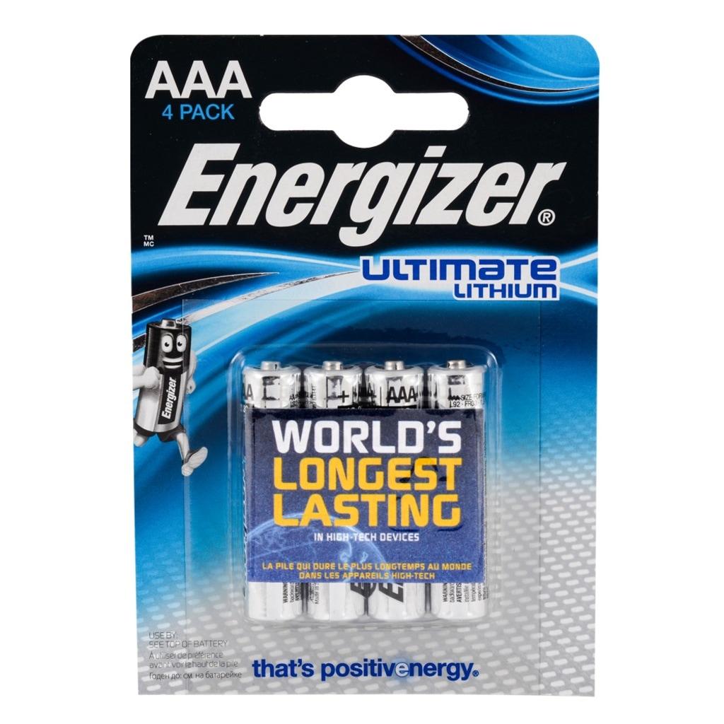 06015149 - Energizer Ultimate Lithium L92-AAA İnce Kalem Pil 4'lü - n11pro.com