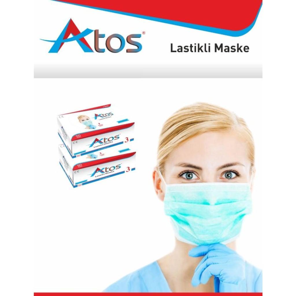 43488354 - Atos Cerrahi Maske 3 Katlı Lastikli 50 Adet - n11pro.com