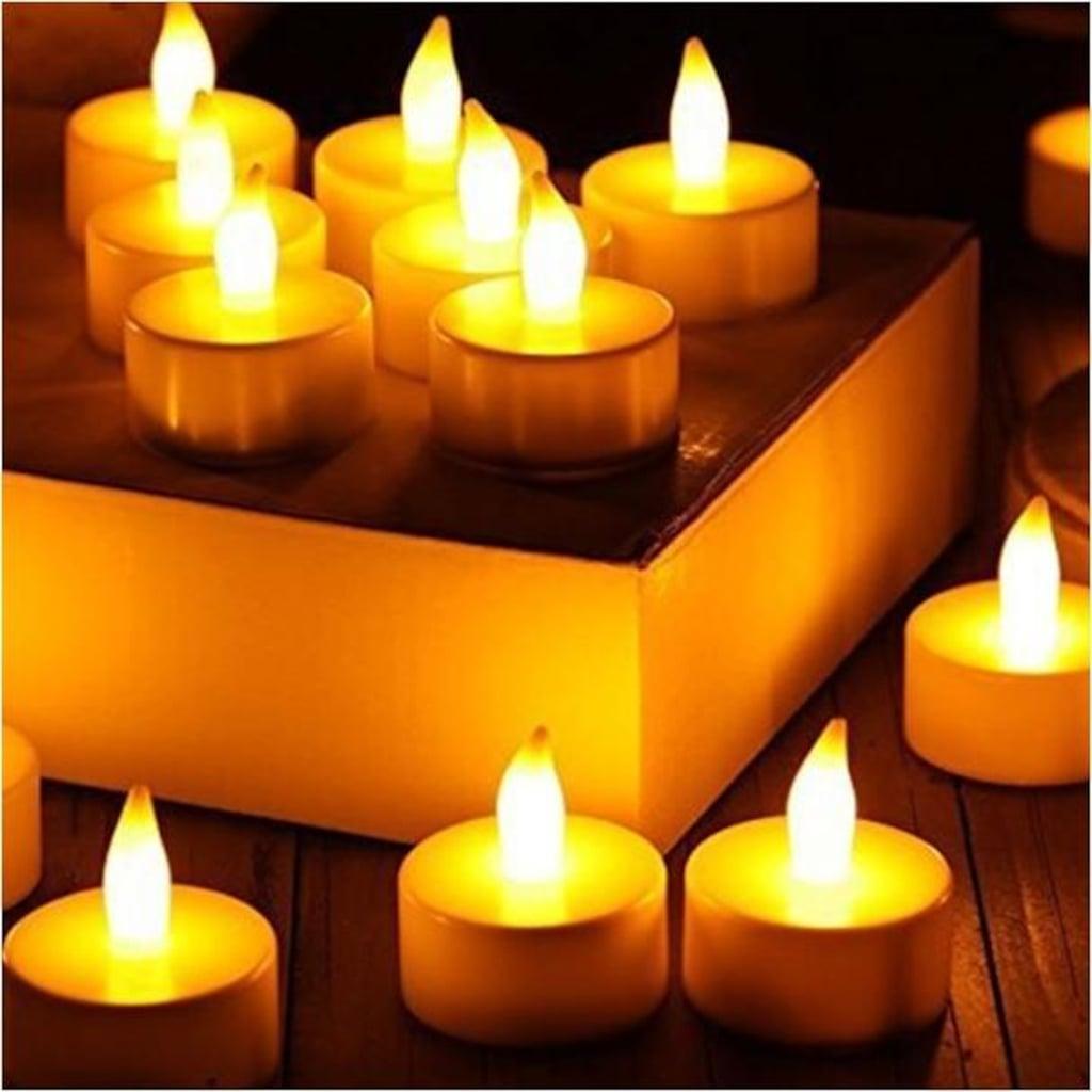 62467215 - Mum ve Mum Uzun Alev Sarı Işık Led Tealight Sarı - n11pro.com