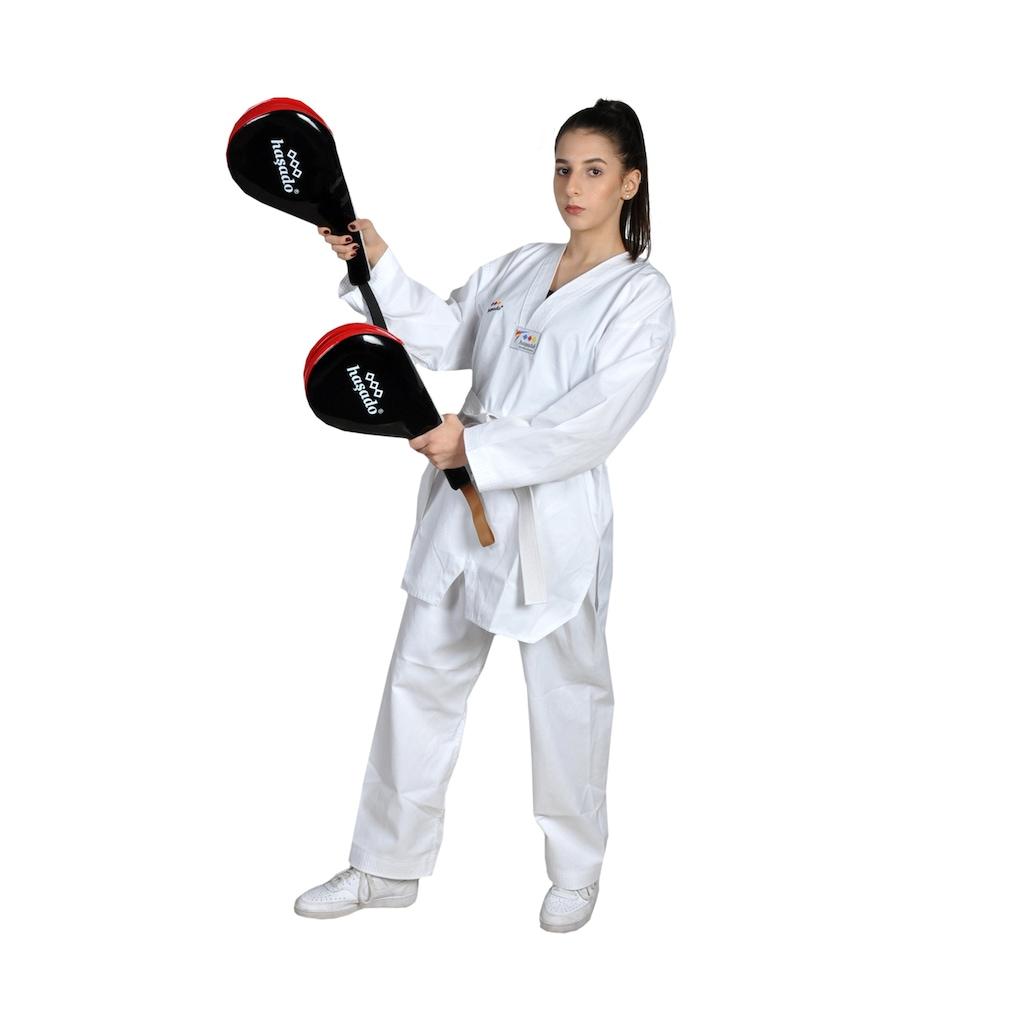 11187977 - Haşado Taekwondo Ellik Tekmelik Raket Kırmızı-Siyah - n11pro.com