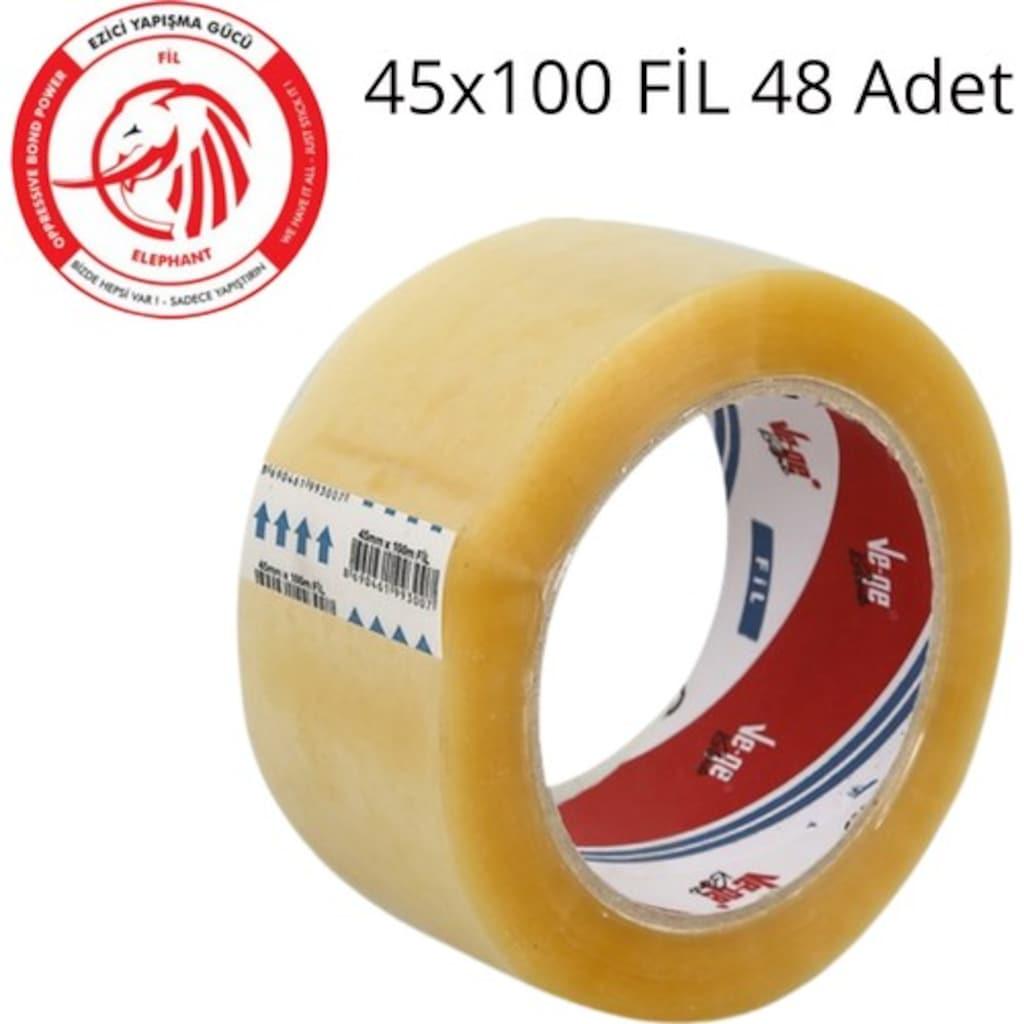 76337302 - Vege 45 x 100 Koli bandı Fil Şeffaf 48'li - n11pro.com
