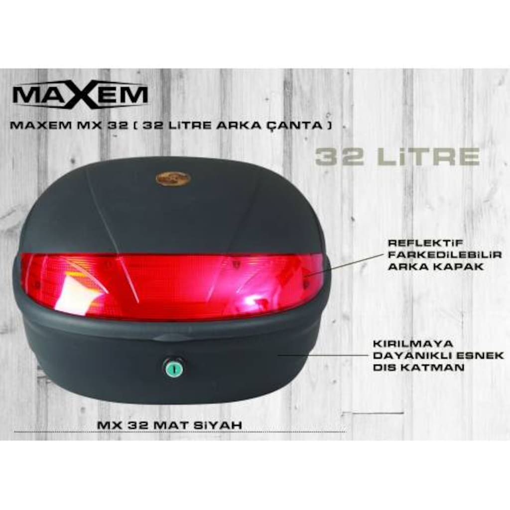 33363265 - Maxem MX32 Topcase 32 L Motor Çantası - n11pro.com