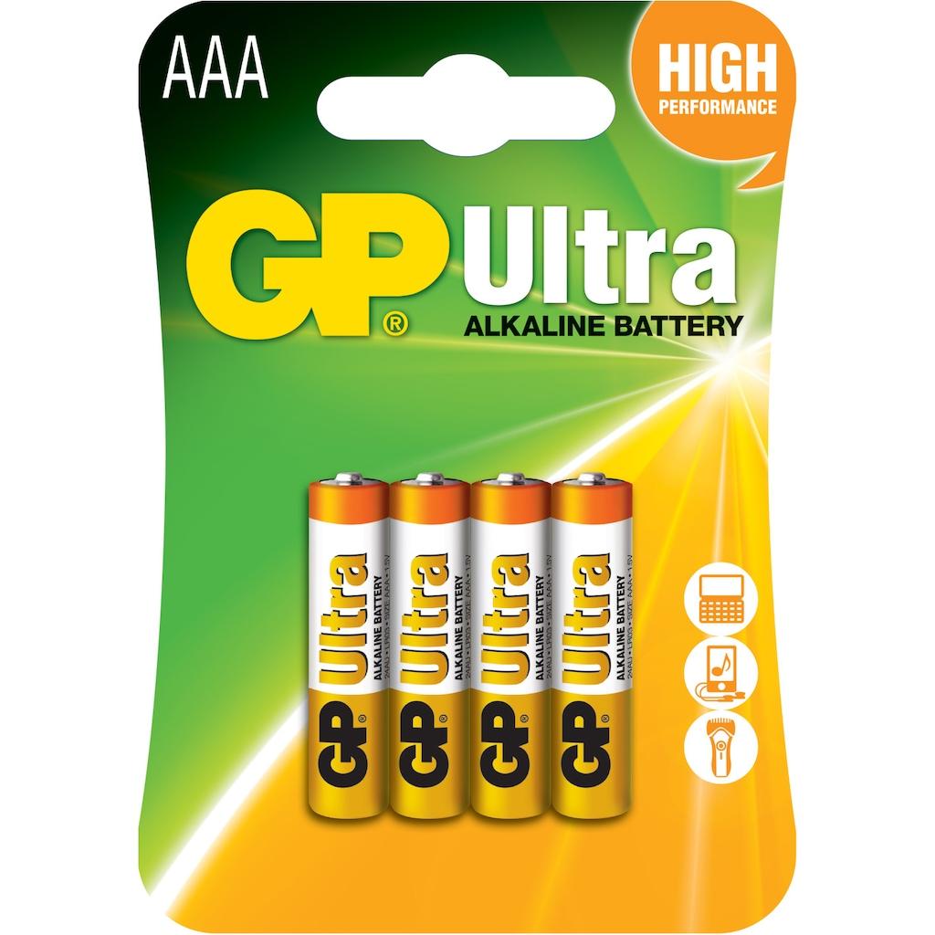 01493022 - GP 4'lü Ultra Alkalin AAA Boy İnce Kalem Pil GP24AU-2U4 - n11pro.com