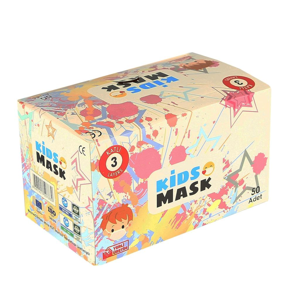 54788320 - Meymed 3 Katlı Telli Spunbond Medikal Çocuk Maske Turuncu 50 Adet - n11pro.com