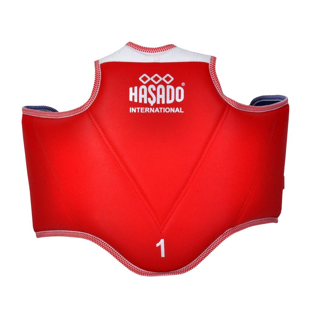 19875600 - Haşado Safeguard Taekwondo Vücut Göğüs Koruyucu Yelek Kırmızı 2-3 Beden - n11pro.com