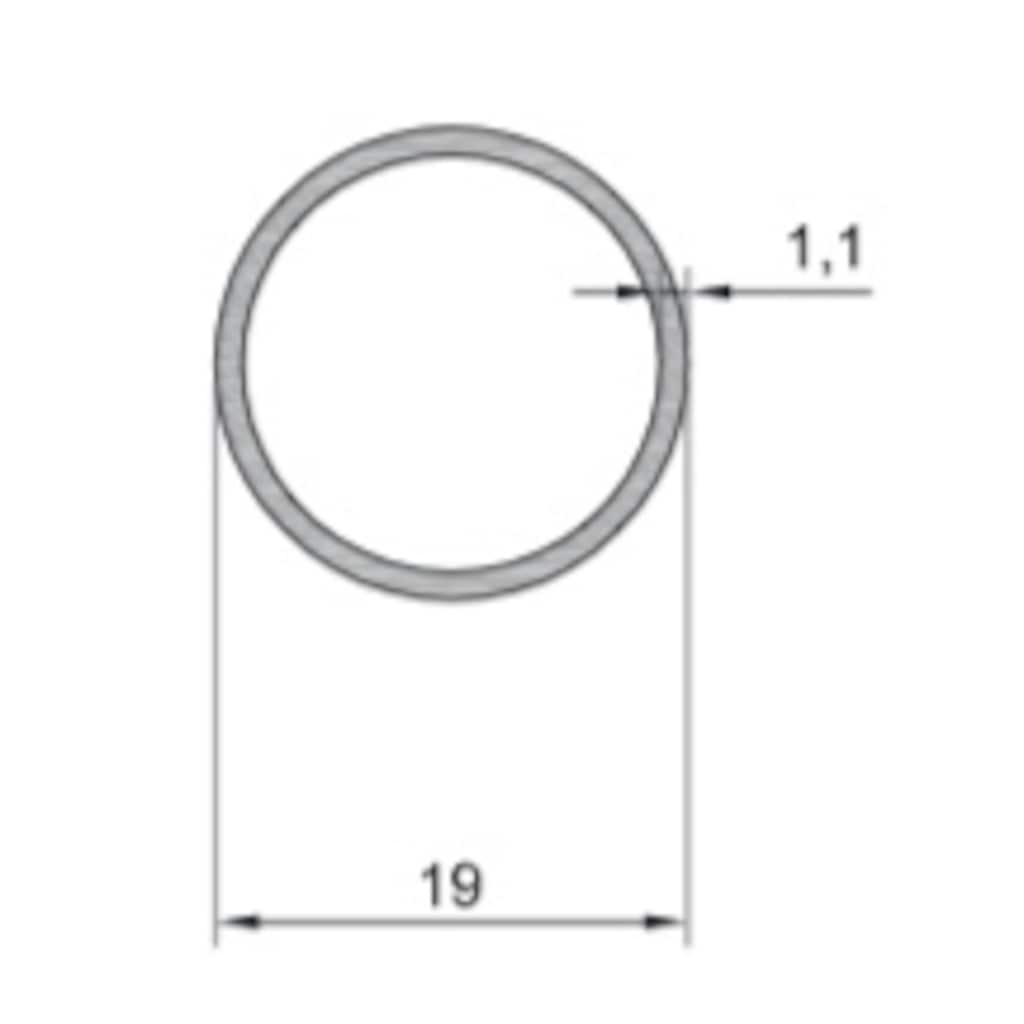 15681647 - Re Alüminyum 19' luk Alüminyum Boru Profil 1.10 MM - n11pro.com