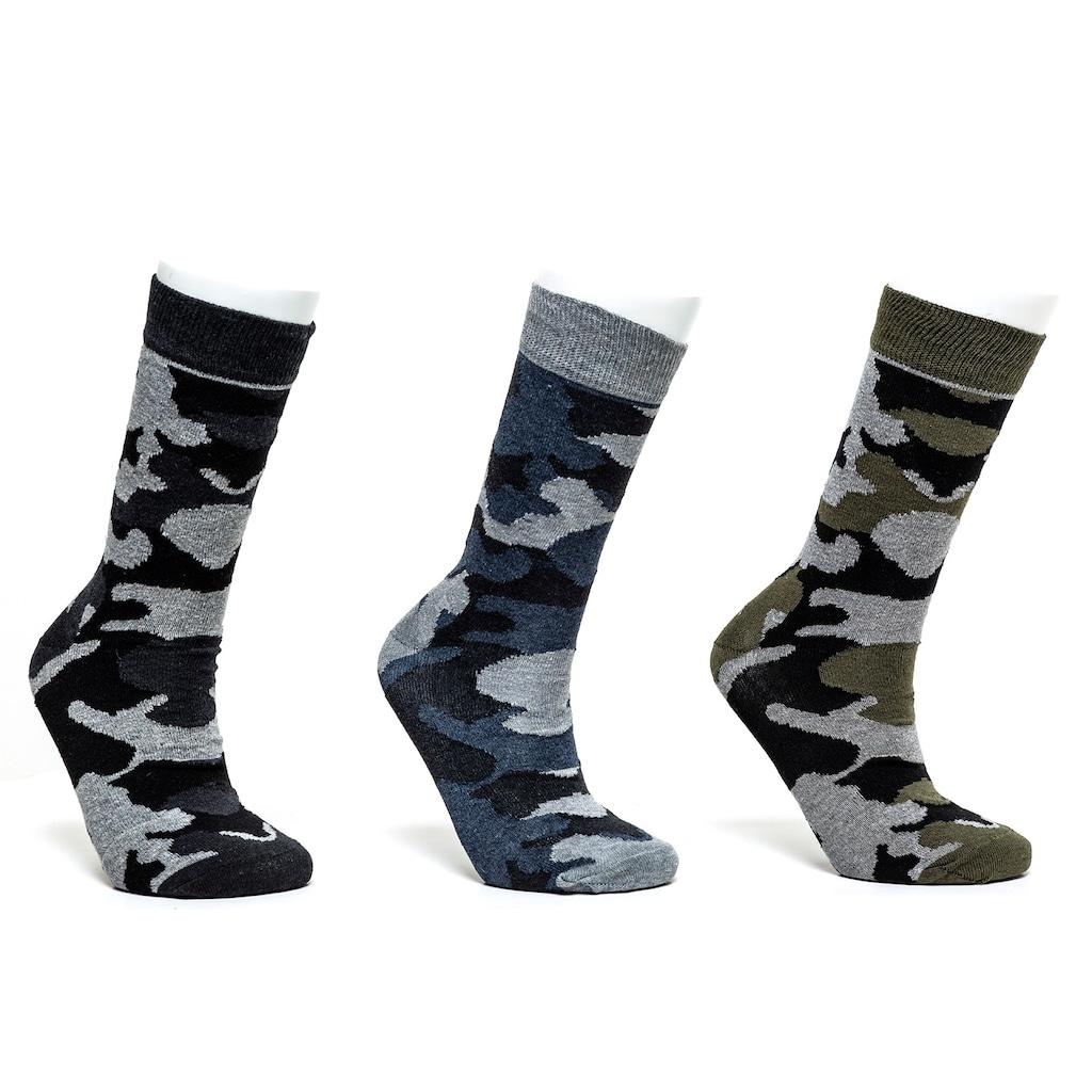 97772984 - Prestige 3'lü Erkek Kamuflaj Desen Soket Çorap 40-44 - n11pro.com