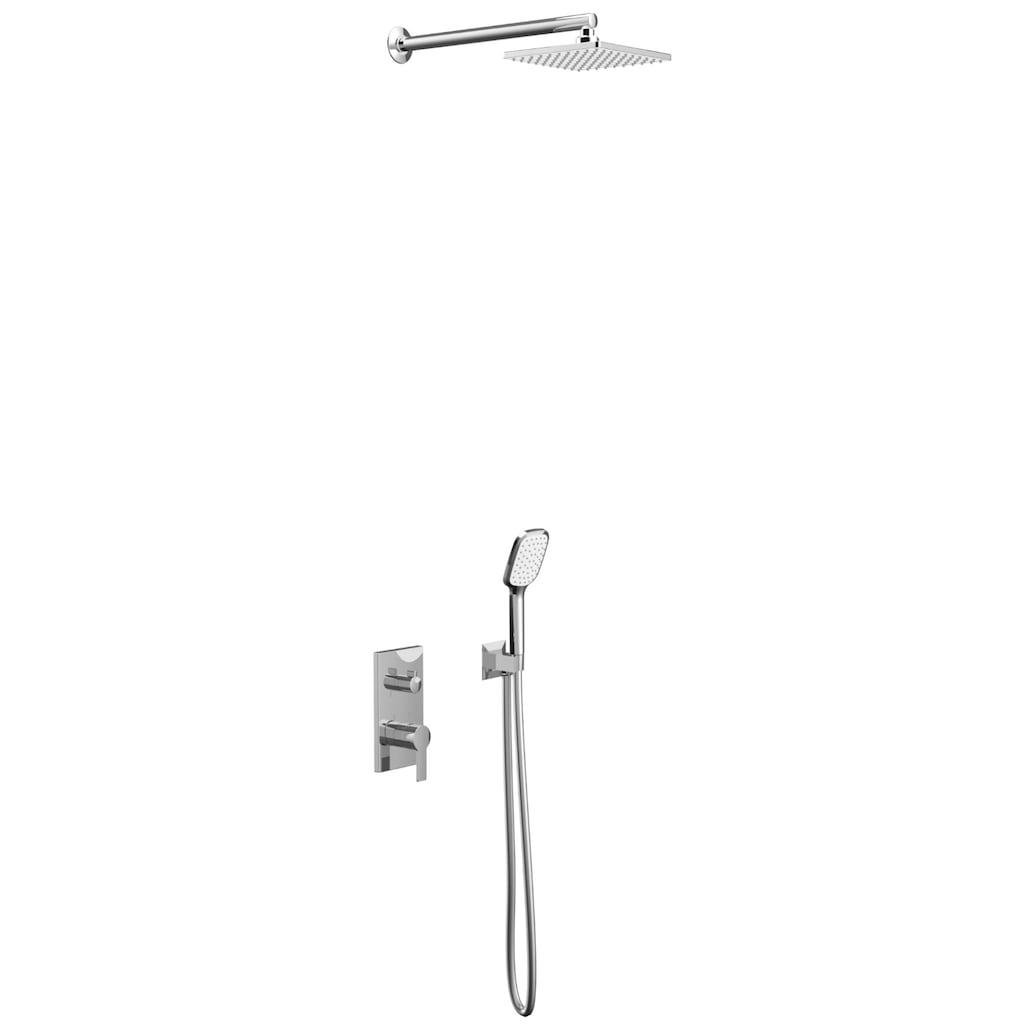 41374660 - Teska Alinda Yatay Ankastre İki Yönlü Banyo Bataryası Seti Krom - n11pro.com