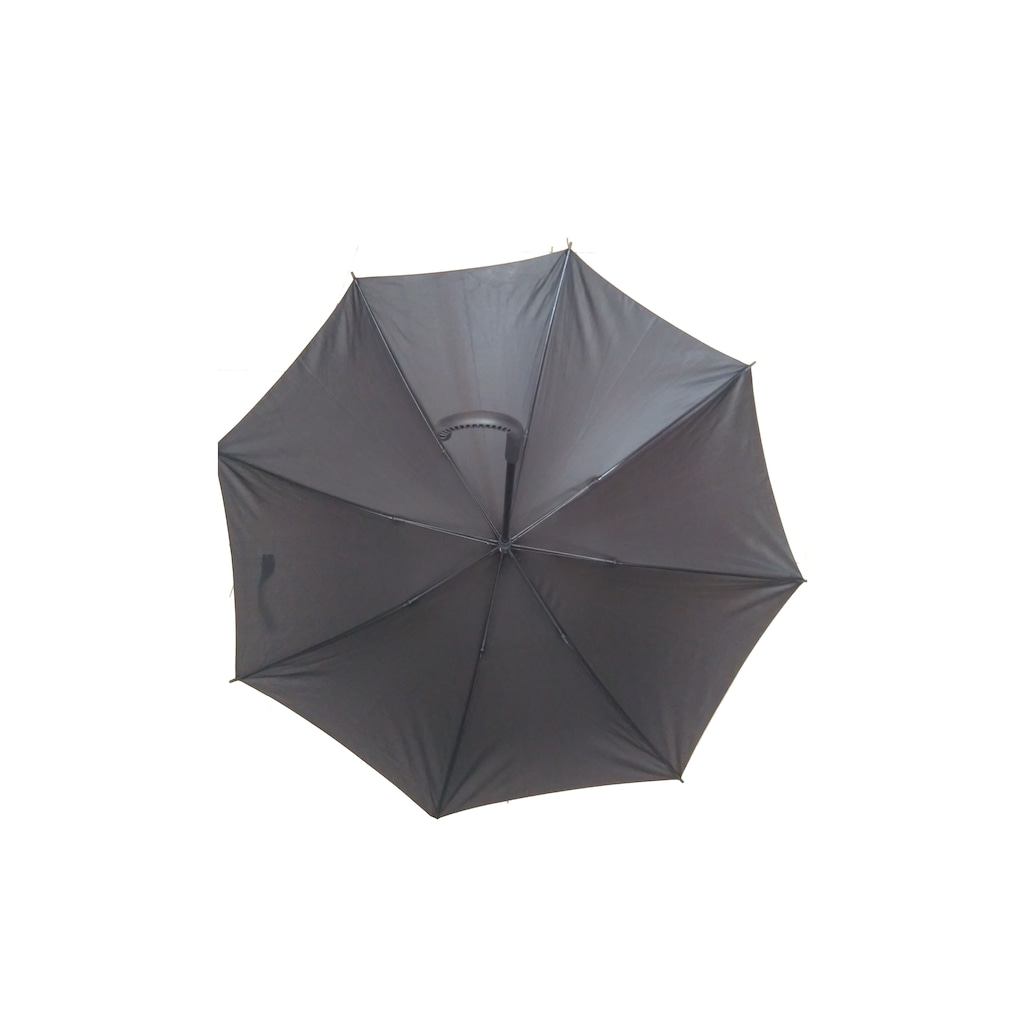 24209468 - Baston Şemsiye 8 Telli Ponge Kumaş Siyah - n11pro.com