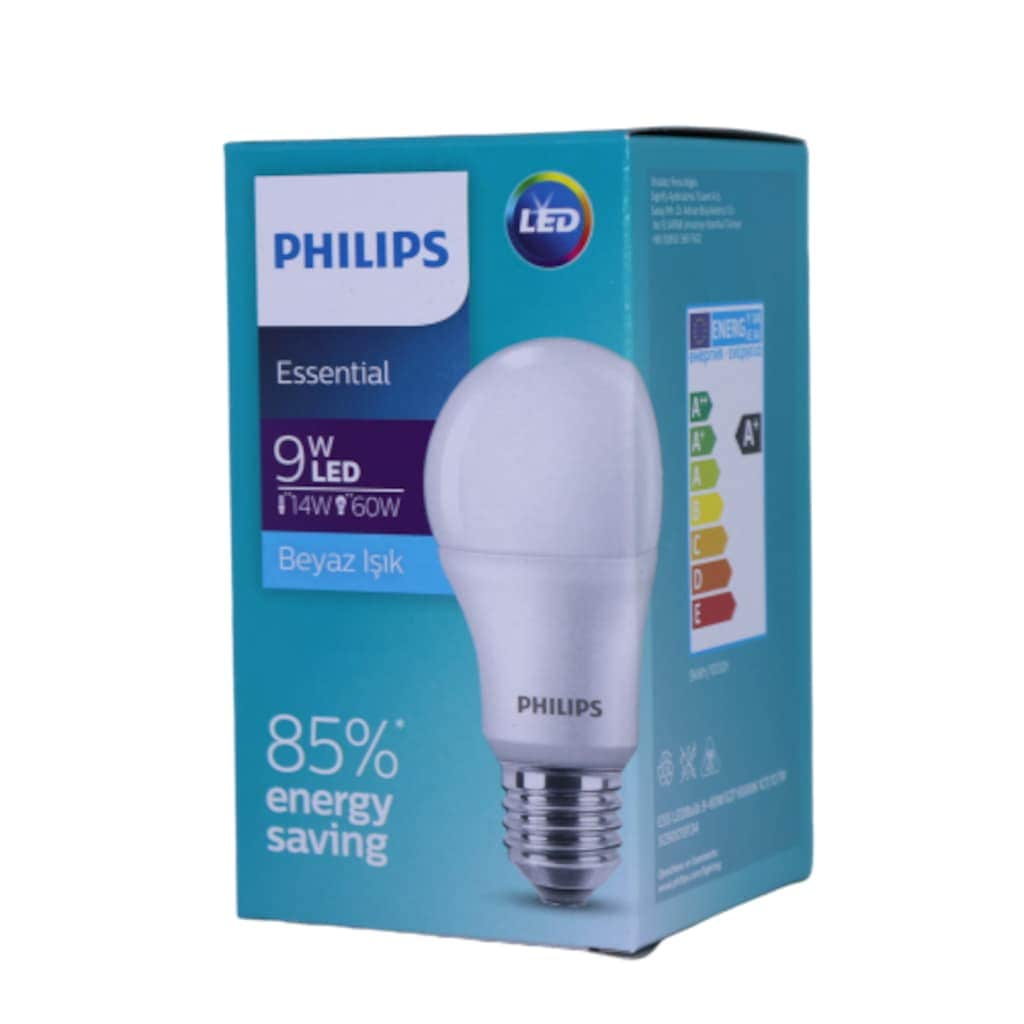 91373336 - Philips Led Ampul 9 W (60W) E27 6500K Beyaz 12'li - n11pro.com