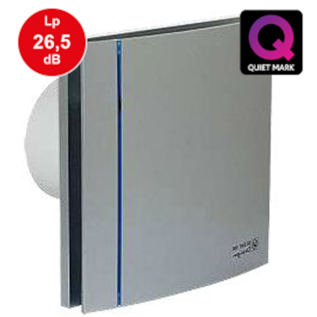 10974873 - Soler&Palau Silent 100 CZ Silver Design Sessiz Banyo Fanı - n11pro.com