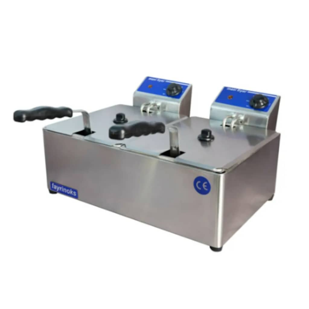 56840718 - Fayrinoks 3 + 3 L 5000 W Endüstriyel Elektrikli Fritöz - n11pro.com