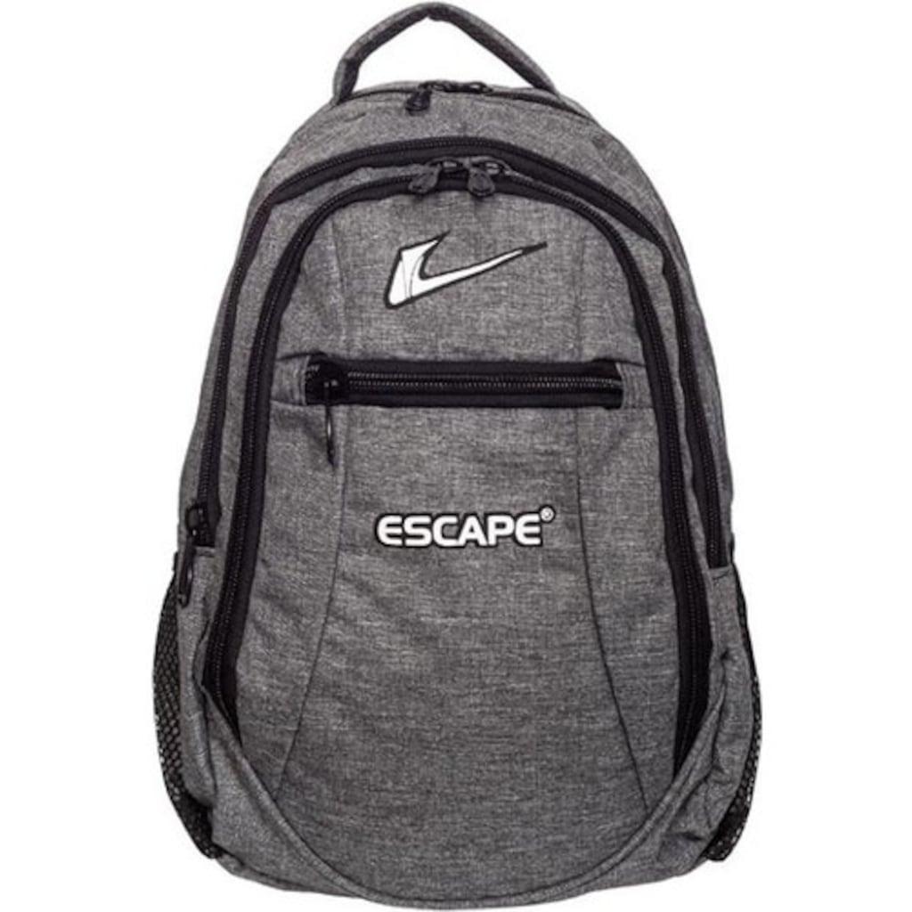 72239210 - Escape 307 10 LT Laptop Bölmeli Okul ve Günlük Sırt Çantası Gri - n11pro.com