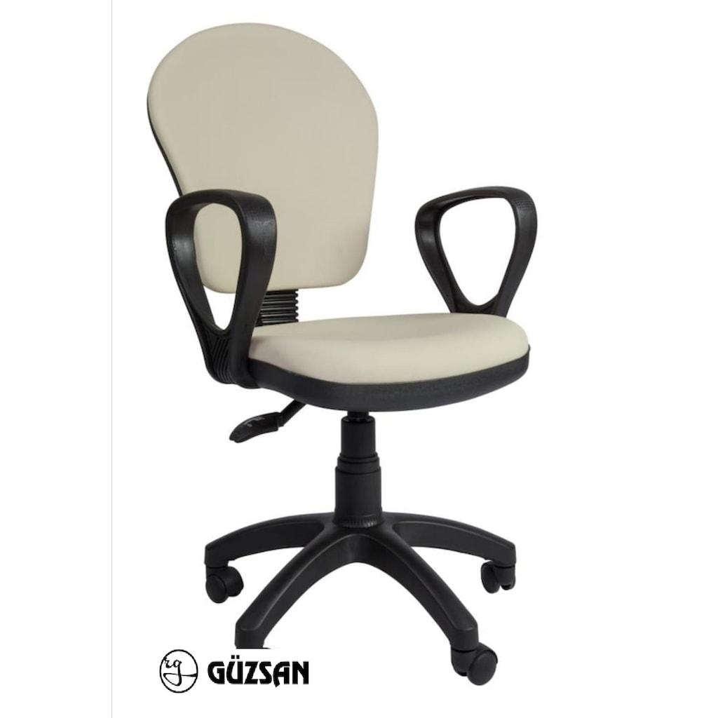 30639029 - Ofiscombin Döner Tekerlekli Çalışma Sandalyesi Krem 44 x 40 x 40 CM - n11pro.com