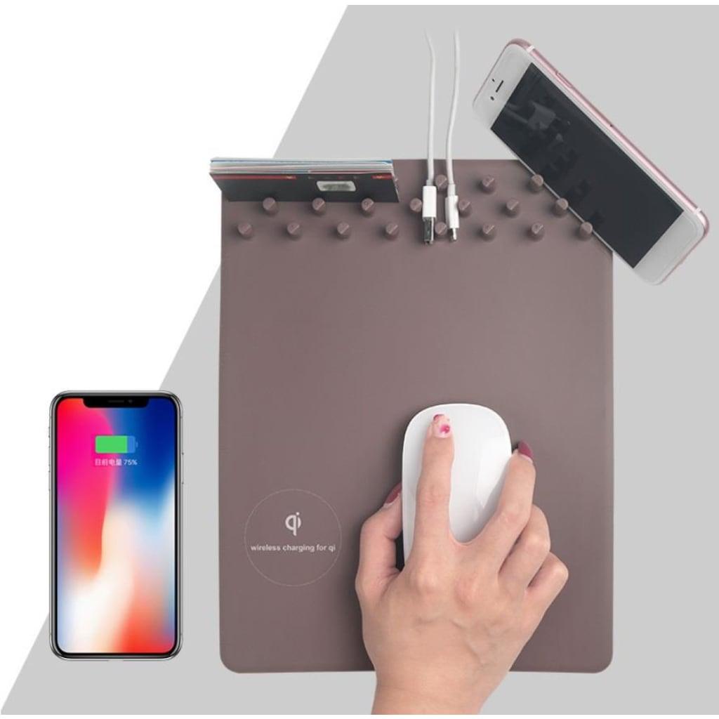 23110027 - Telefon Standlı Mouse Pad Gri - n11pro.com