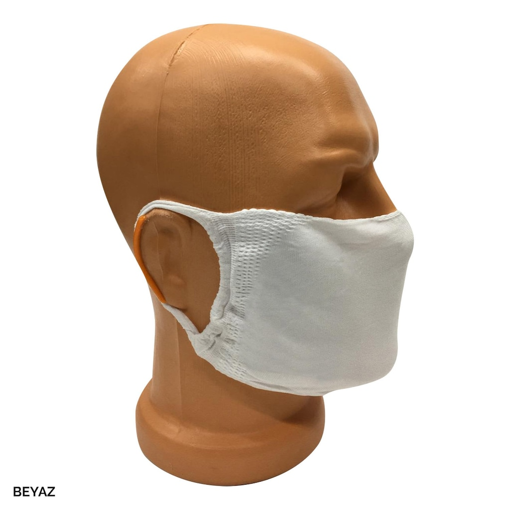 90492325 - Superior Masqe Yıkanabilir Maske Beyaz Paket 10'lu - n11pro.com