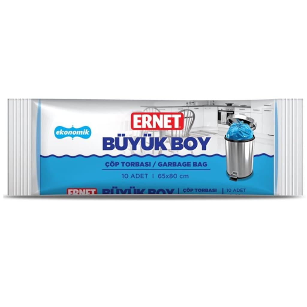 77575162 - Ernet Ekonomik Büyük Boy Çöp Torbası 50 Adet Beyaz 65 x 80 CM - n11pro.com