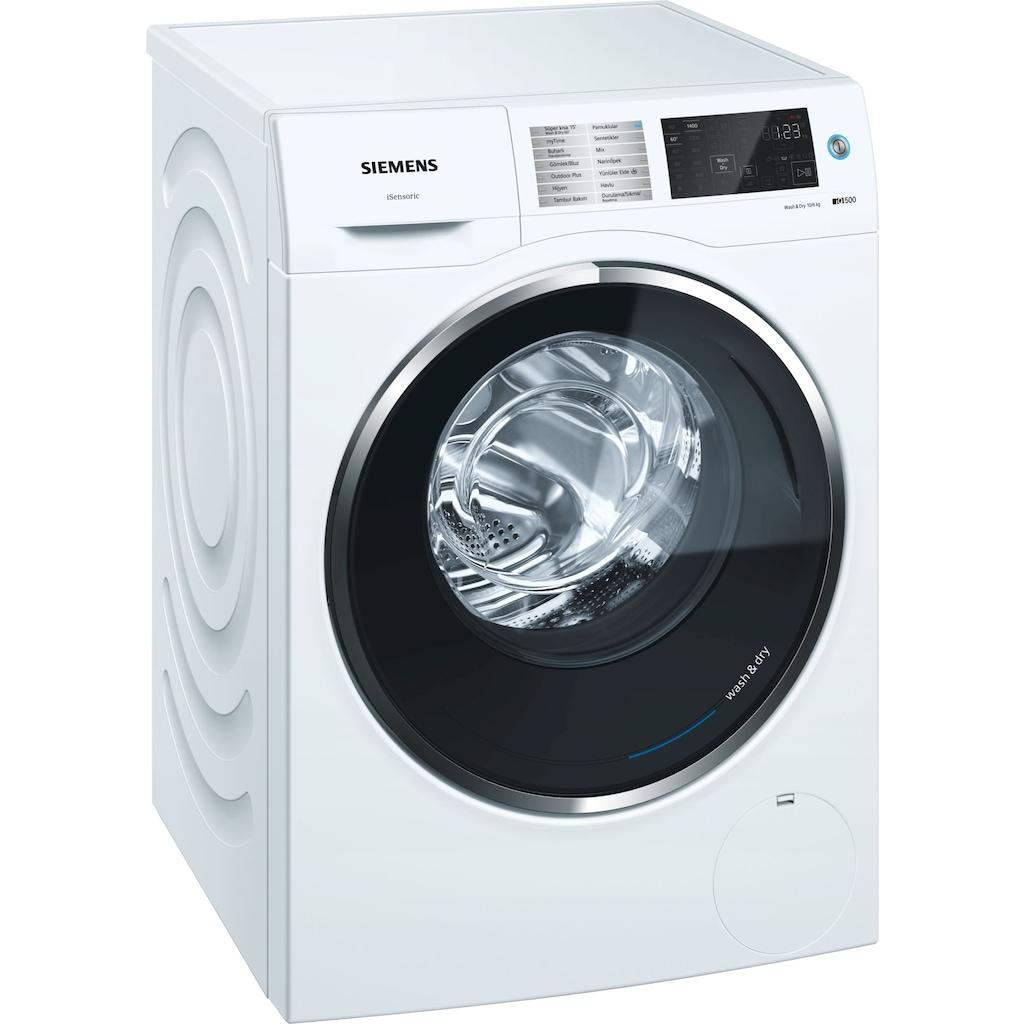 65719532 - Siemens iQ500 WD14U560TR A 1400 Devir 10 KG Yıkama +6 KG Kurutmalı Çamaşır Makinesi - n11pro.com