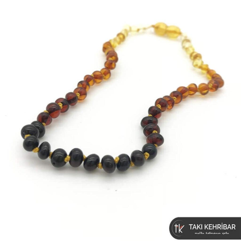 93882170 - Takı Kehribar Bebek Diş Kolyesi Kahverengi - n11pro.com