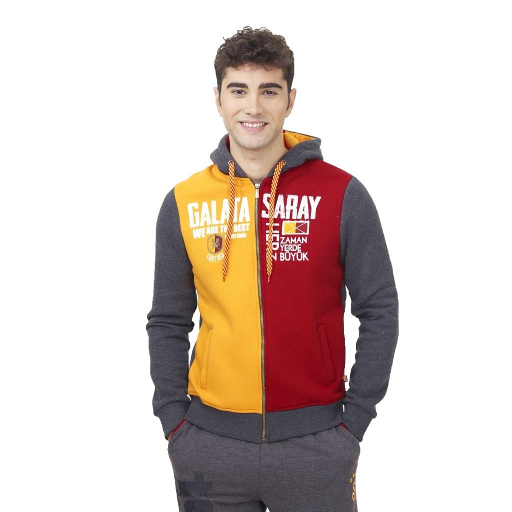 01875791 - Gsstore Galatasaray Kapşonlu Fermuarlı Mevsimlik Sweatshirt - n11pro.com