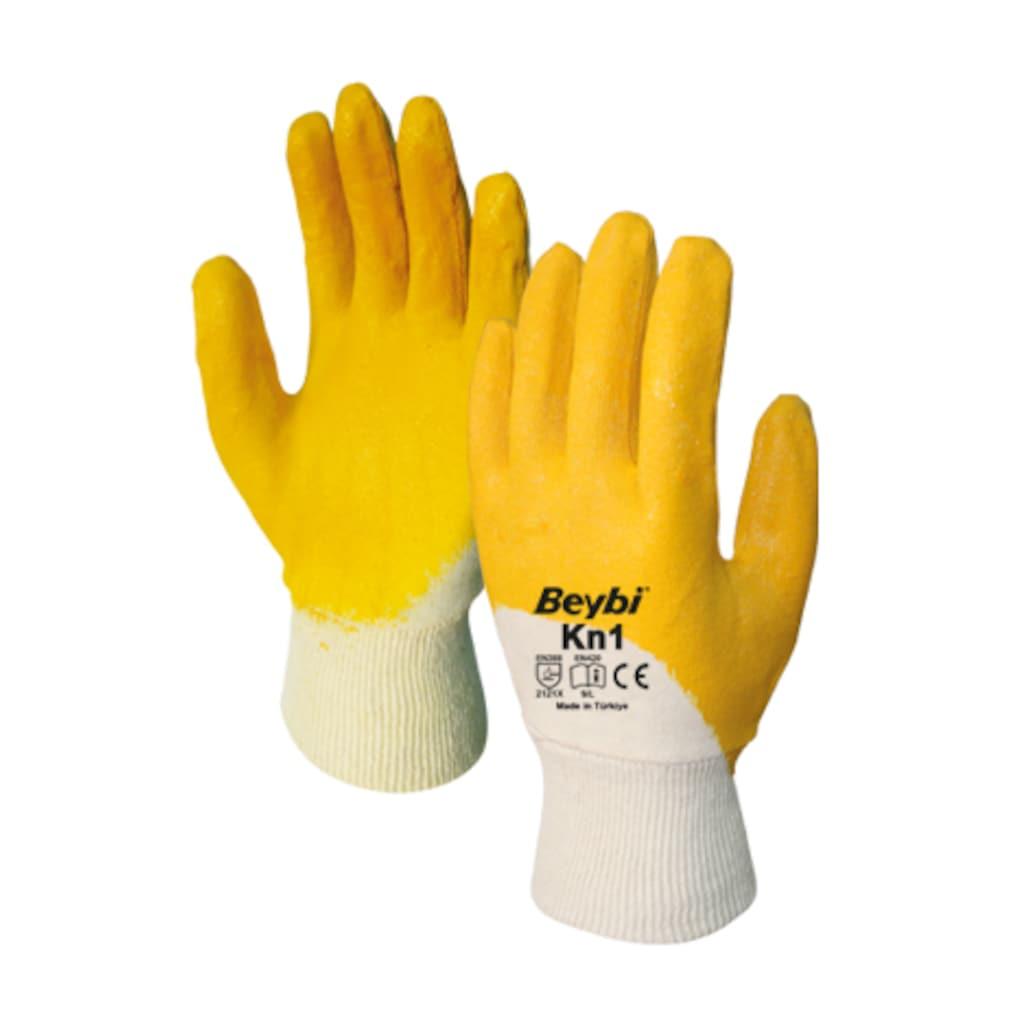 92362469 - Beybi KN1 Nitril Sarı İş Eldiveni - n11pro.com
