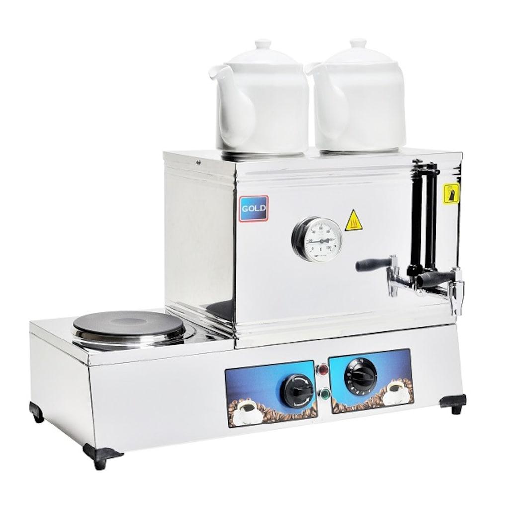 05429974 - Emir Gold İki Demlikli Elektrikli Çay Ocağı Kazanı 20 LT - n11pro.com