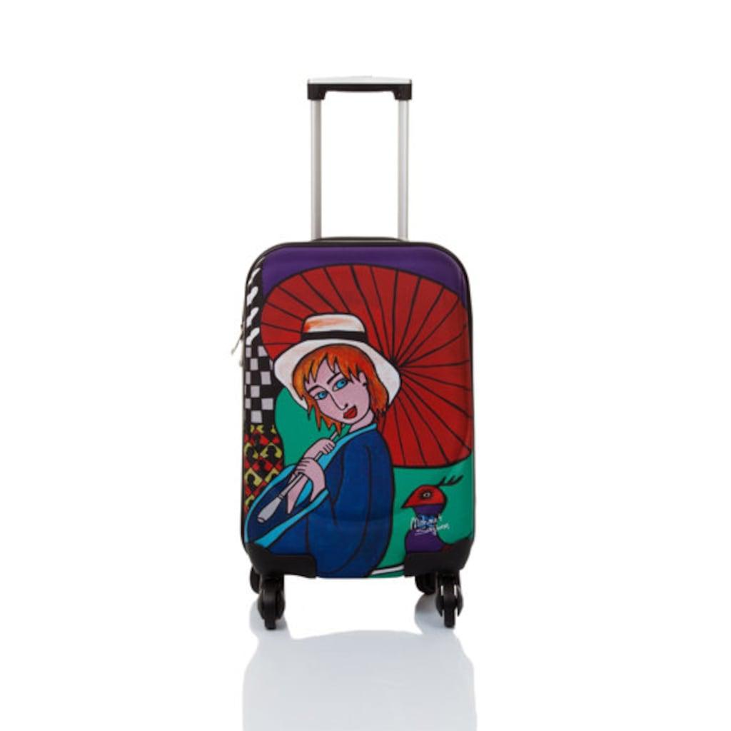 04014577 - Biggdesign Sanatçı Tasarımı Valiz Şemsiyeli Kız - n11pro.com