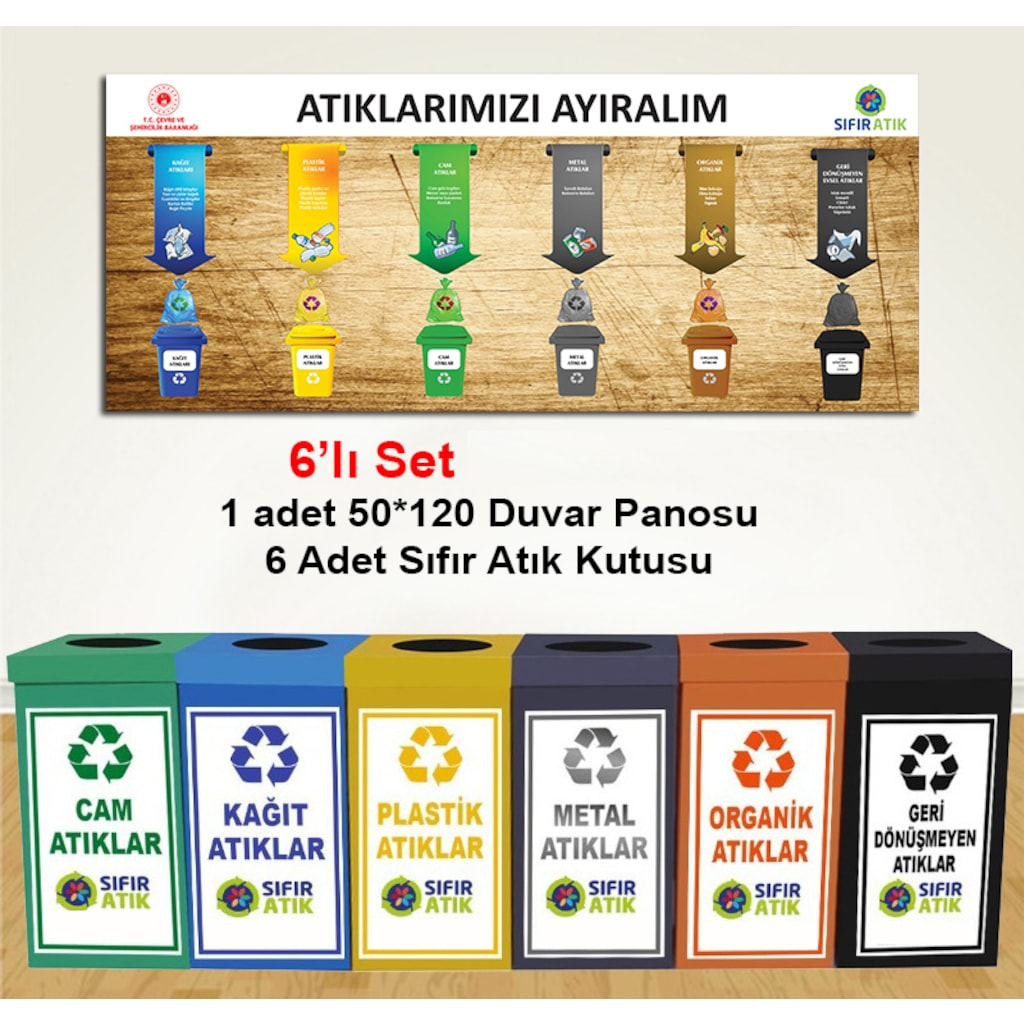 94719032 - Murat Kopyalama Sıfır Atık Köşesi 6'lı Set - n11pro.com