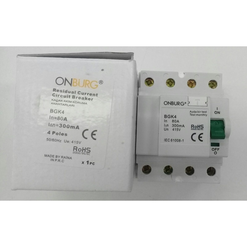85565309 - Onburg 4 x 80 A 300 mA Yangın Koruma - n11pro.com