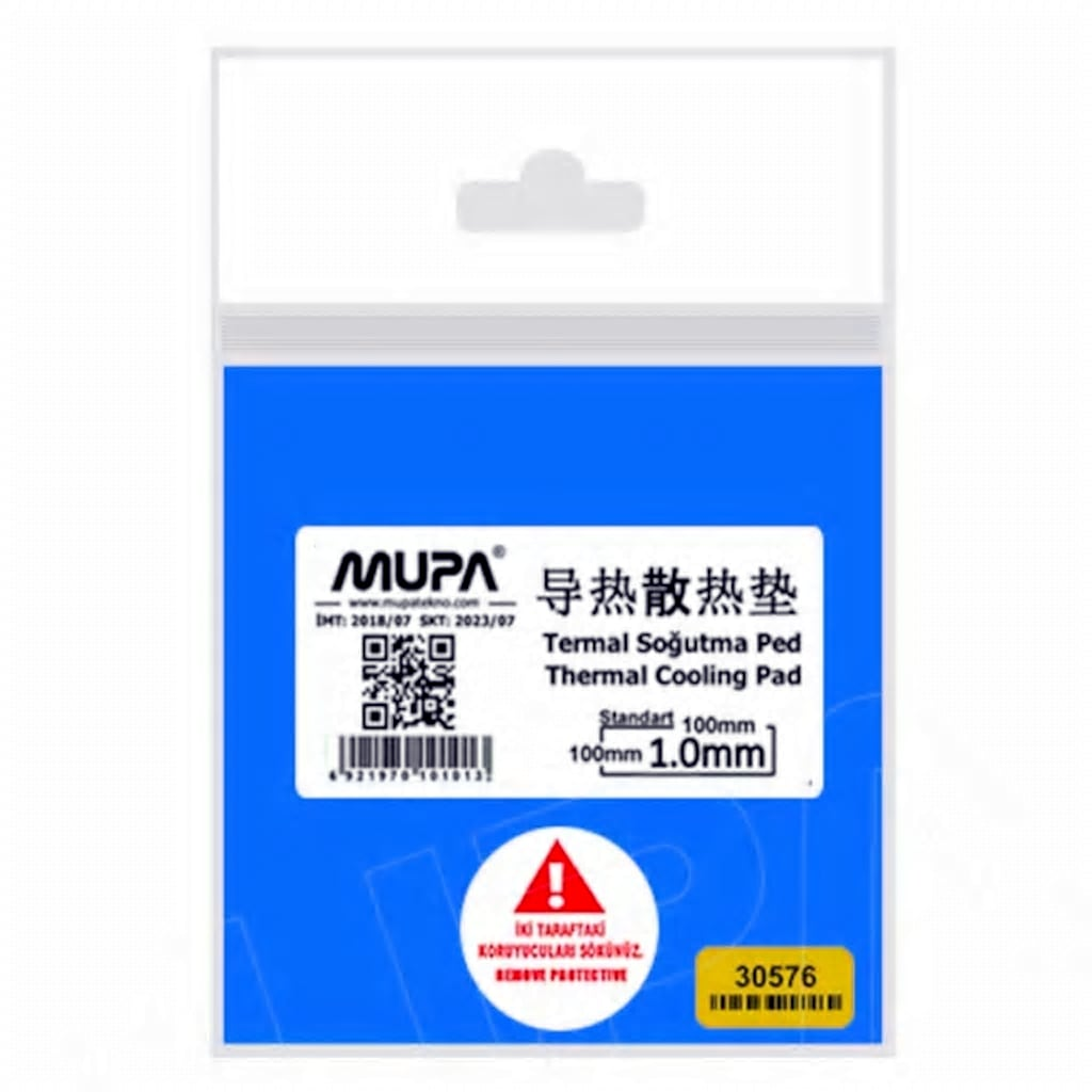 70230921 - Mupa 1.3W/M-K Termal Ped Soğutucu 100 x 100 x 1 MM - n11pro.com