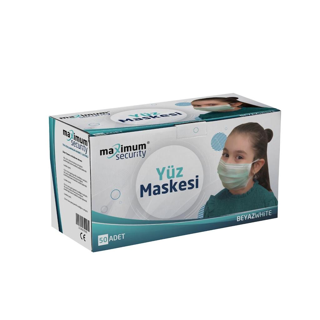 39177834 - Maximum Security Koruyucu Yüz Maskesi 50 Adet - n11pro.com
