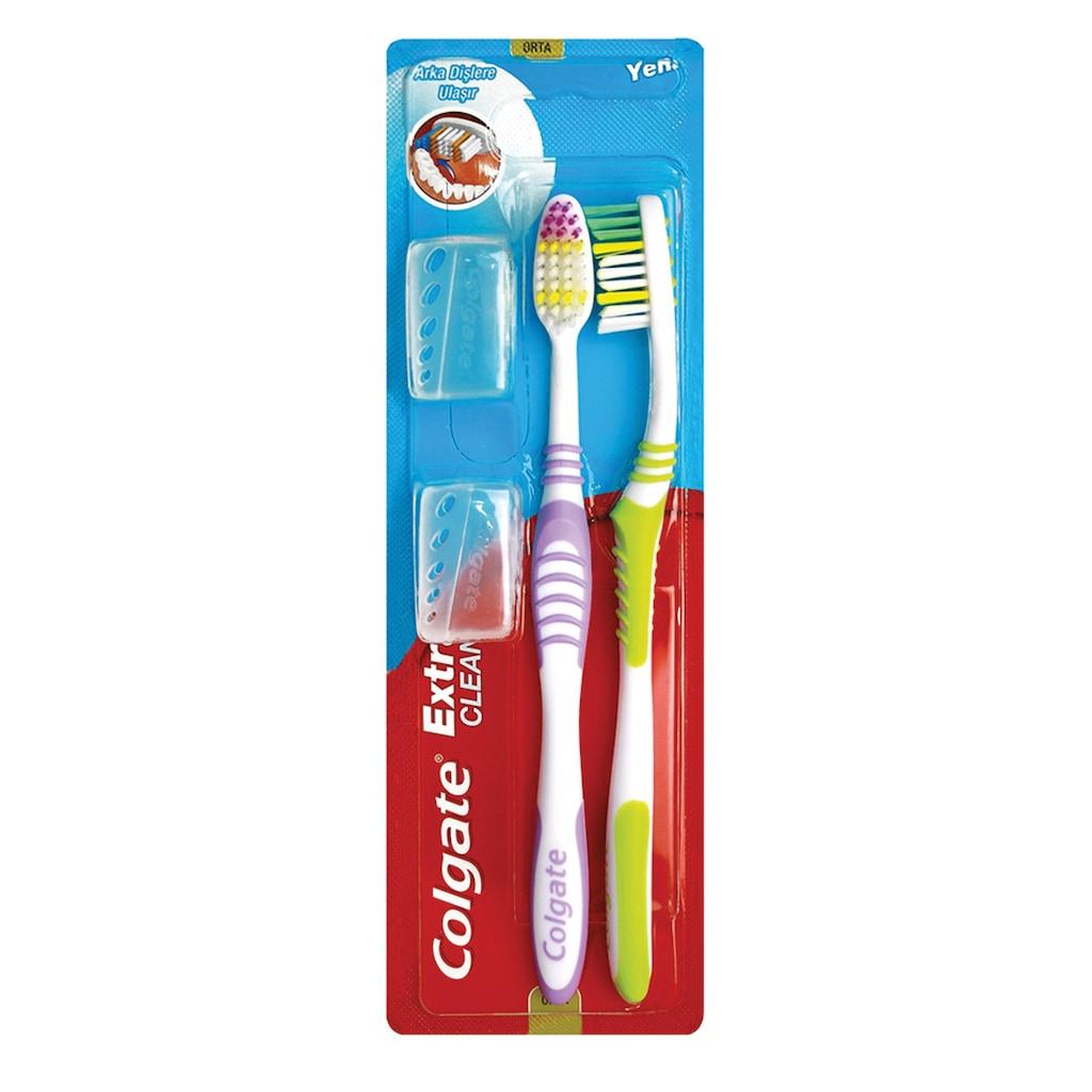 93391661 - Colgate Extra Clean Medium 1+1 Diş Fırçası - n11pro.com