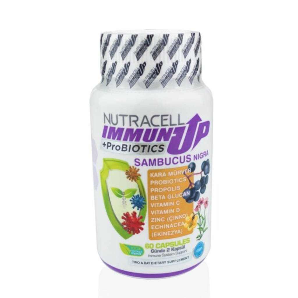 51907474 - Nutracell Immunup Sambucus Nigra + Probiyotik 60 Kapsül - n11pro.com