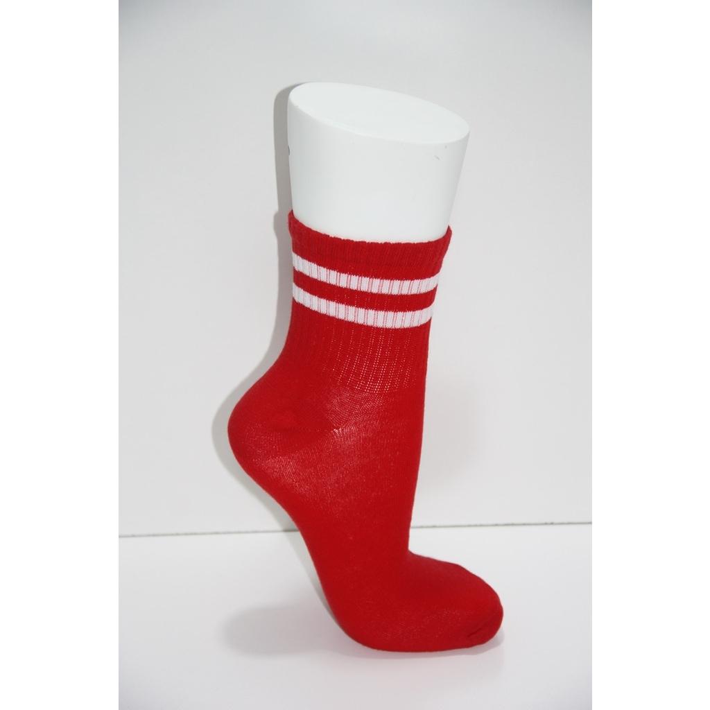 51392287 - Pamela Kadın 4'lü Spor Çizgi Desenli Tenis Çorabı 36-40 - n11pro.com