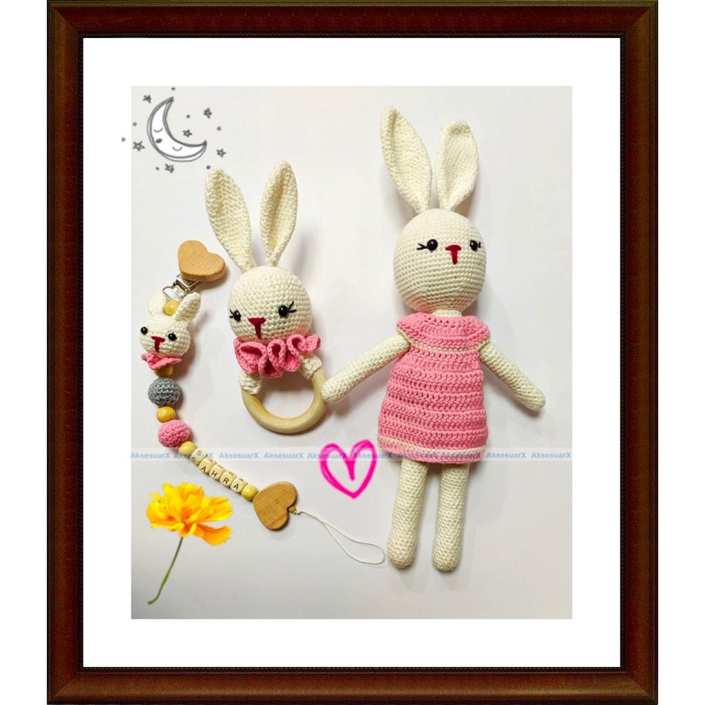 Amigurumi Geyik Emzik Zinciri Tarifi | Baby knitting patterns ... | 1024x1024