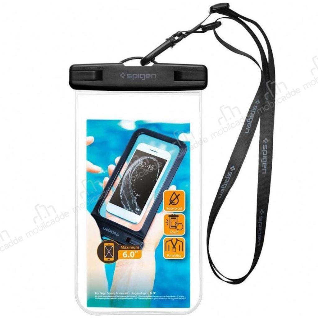 Spigen Universal Waterproof Su Geirmez Effaf Klf N11com Nokia Asha 310 Dual Sim Resmi White