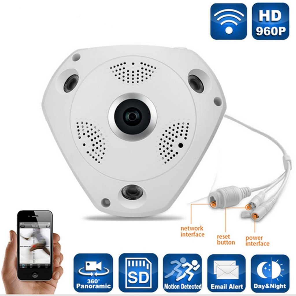 360 Derece Panaromik Tavan Tipi Wifi IP Kamera AN-6468