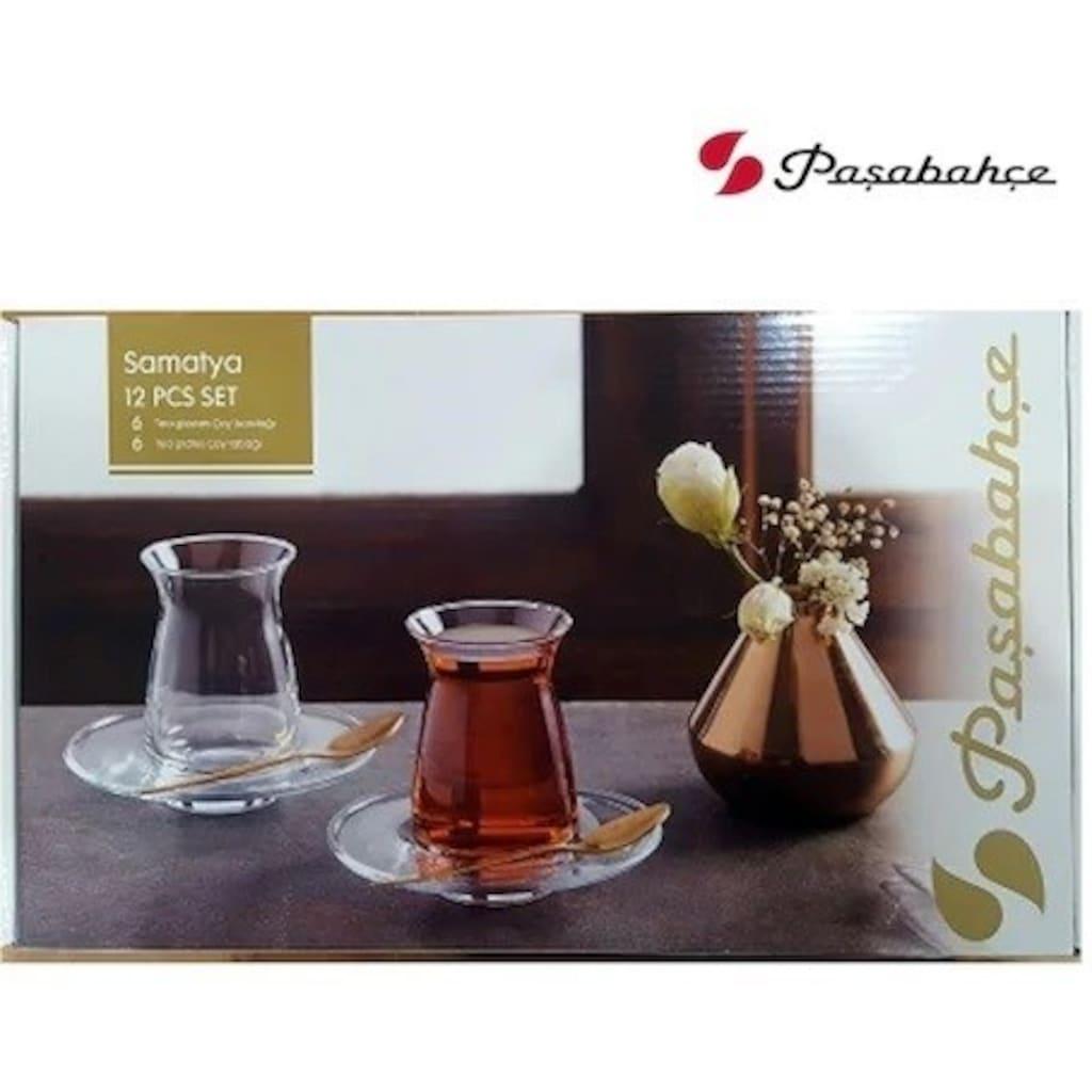 Paşabahçe Samatya 12 Parça Çay Seti 6 Çay Bardağı 6 Çay ...