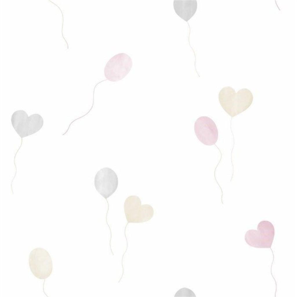 Milky Baby Bebek Kalpli Balon Desenli çocuk Odası Duvar Kağıdı 4
