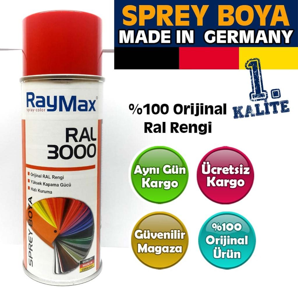 Raymax Sprey Boya Ral 3000 Ateş Kırmızı Made In Germany N11com