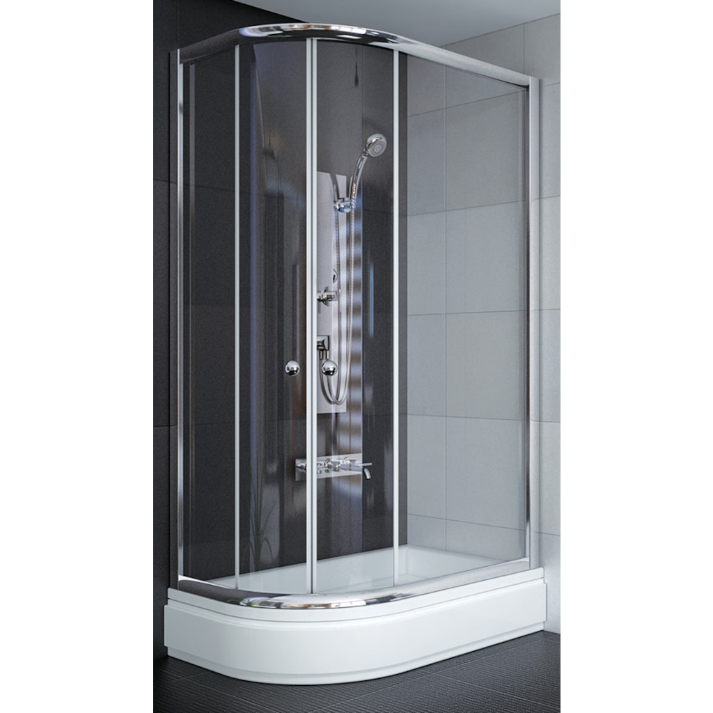 Asimetrik Duş Teknesi + Duşakabin 120x90 Fiyatları ve Özellikleri