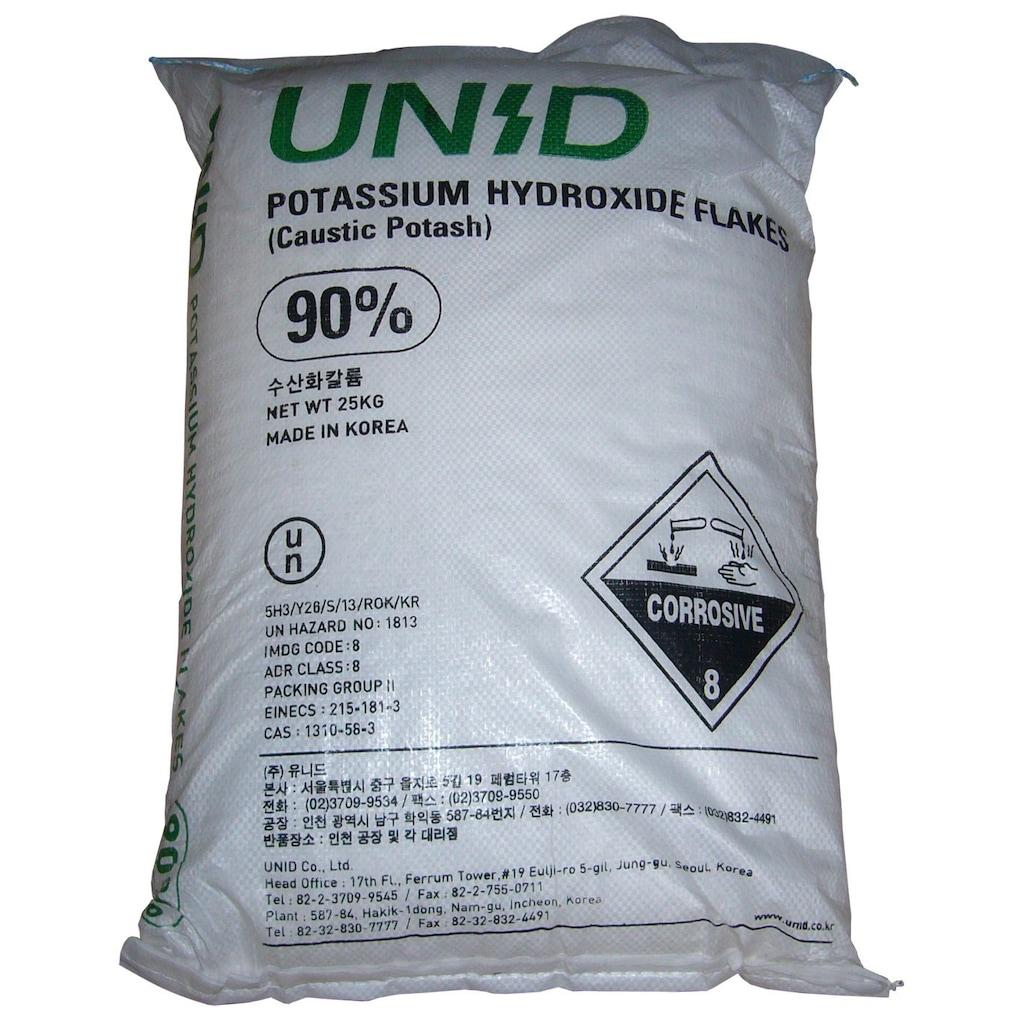 Potasyum hidroksit. Alma, kullanma, özellikler