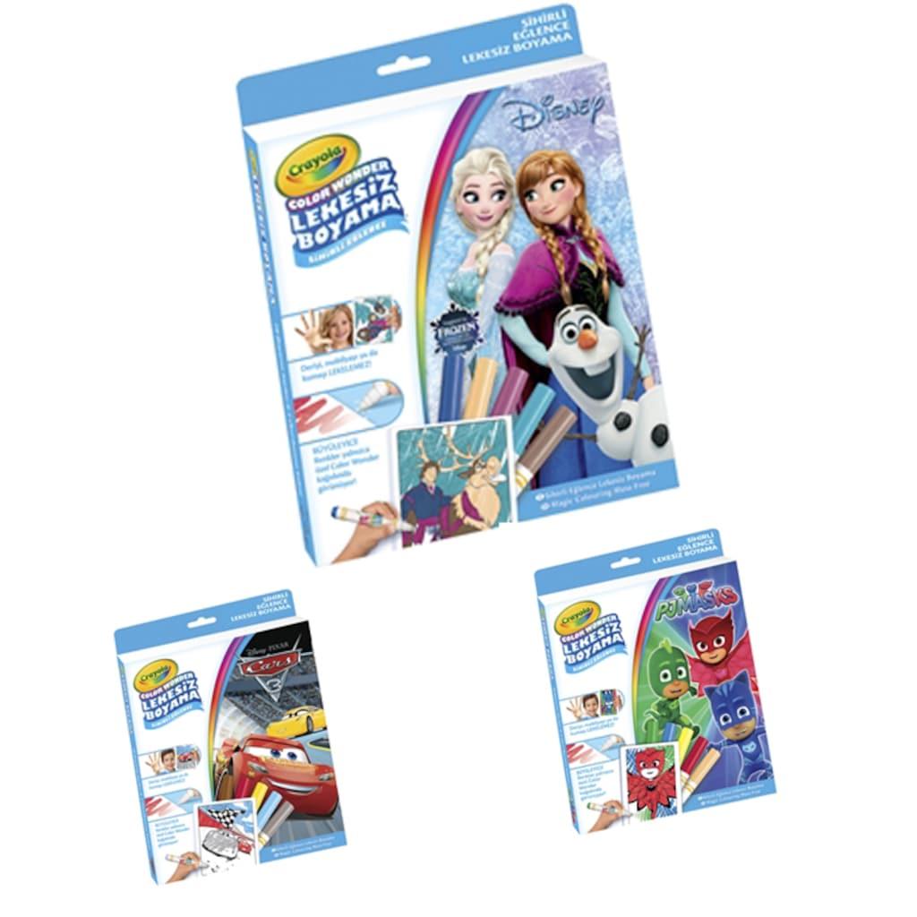 Crayola Color Wonder Lekesiz Boyama Pijamaskeliler Cars Frozen N11com