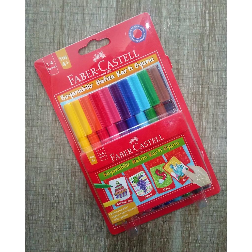 Faber C 10 Renk Keceli Kalem Ve Boyanabilir Hafiza Karti Oyunu