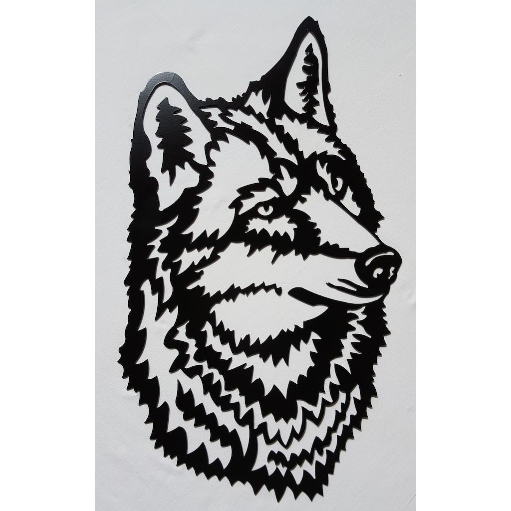 Kurt Kafasi Ev Dekorasyon Lazer Kesim Metal Tablo Ideal Tasarim